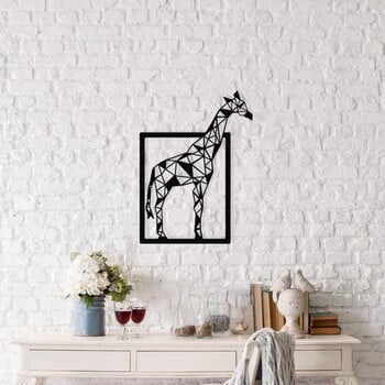 Decorațiune metalică de perete Giraffe, 45 x 60 cm, negru la pret 186 lei