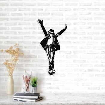 Decorațiune metalică de perete Michael Jackson, 36 x 69 cm, negru la pret 161 lei