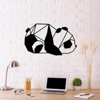 Decorațiune metalică de perete Panda, 55 x 33 cm, negru la pret 258 lei