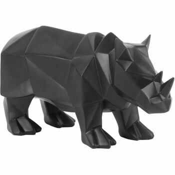 Statuetă PT LIVING Origami Rhino, negru mat la pret 213 lei