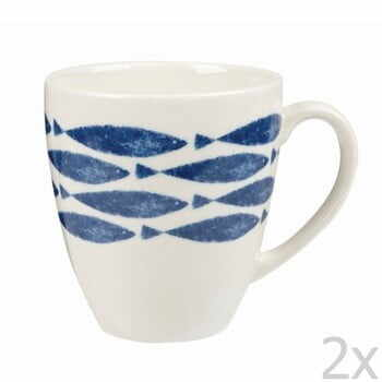 Set 2 căni din ceramică Churchill China Fishie Horizontal, 500 ml la pret 79 lei