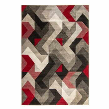 Covor Flair Rugs Aurora Grey Red, 160 x 230 cm