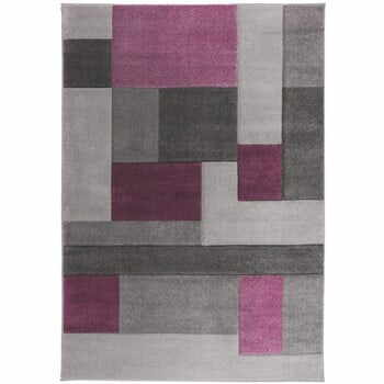 Covor Flair Rugs Cosmos Purple, 160 x 230 cm, gri-mov