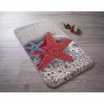 Covoraş de baie Confetti Bathmats Starfish, 80 x 140 cm, roşu la pret 266 lei