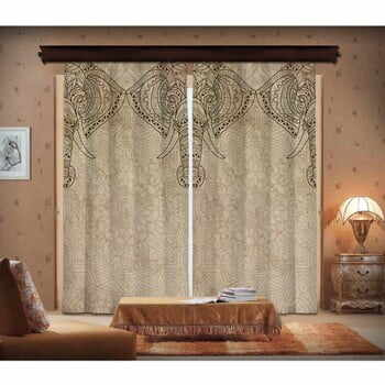 Set 2 draperii Curtain Lasta, 140 x 260 cm
