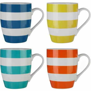 Set 4 căni Premier Housewares Stripes Colorful la pret 82 lei