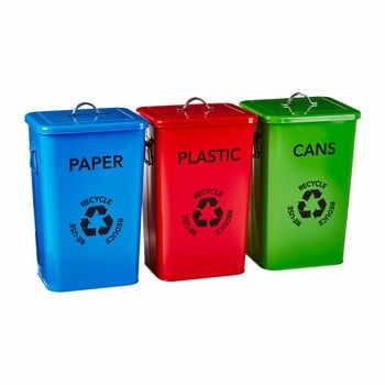 Set 3 coșuri pentru reciclare Premier Housewares Recycle Bins la pret 577 lei
