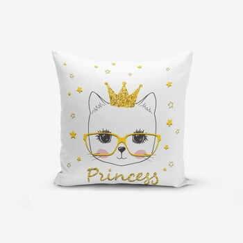 Față de pernă cu amestec din bumbac Minimalist Cushion Covers Princess Cat Modern, 45 x 45 cm la pret 40 lei