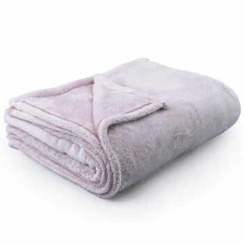 Pătură din microfibră DecoKing PowderPink, 220 x 240 cm, roz deschis la pret 152 lei