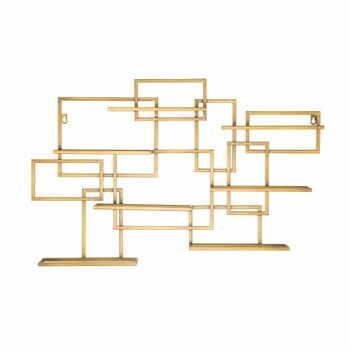 Suport de perete auriu, pentru sticle Mauro Ferretti Diodoro, 80 x 50 cm la pret 499 lei