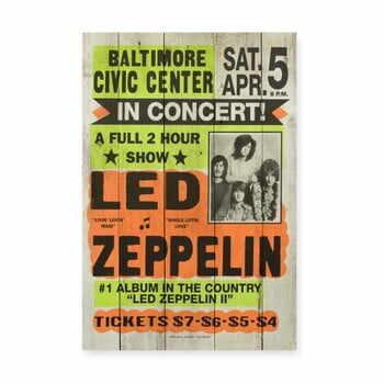 Tablou din lemn de pin Really Nice Things Led Zeppeling, 60x40cm la pret 219 lei