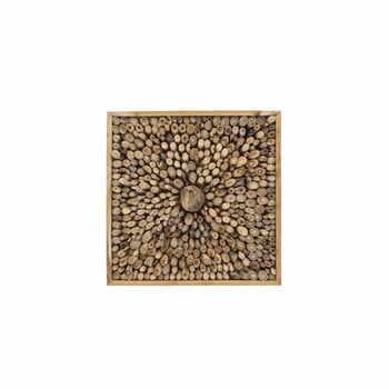 Decorațiune de perete din lemn de tec reciclat WOOX LIVING Queendom, 70 x 70 cm la pret 617 lei