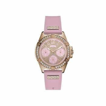 Ceas damă Guess W1160L5, curea din silicon, roz la pret 509 lei