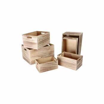 Set 6 cutii din lemn de depozitare Legler Wooden la pret 354 lei