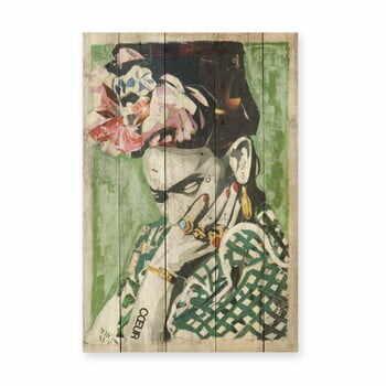 Tablou din lemn de pin Madre Selva Frida Coeur, 40 x 60 cm la pret 222 lei