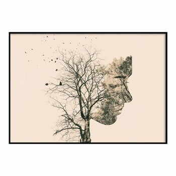 Poster DecoKing Girl Silhouette Tree, 70 x 50 cm