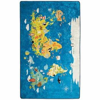 Covor copii World Map, 100 x 160 cm la pret 169 lei