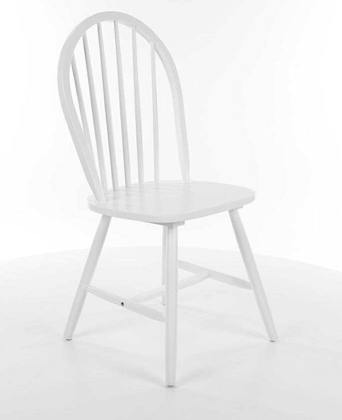 Scaun din lemn masiv alb Fiero la pret 293 lei