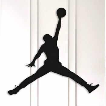 Decorațiune metalică de perete Basketball, negru la pret 348 lei
