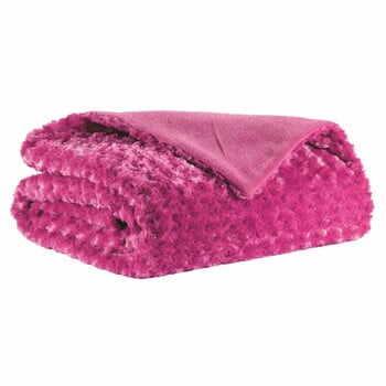 Pătură Tiseco Home Studio Curl, 150 x 200 cm, roz închis la pret 199 lei