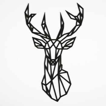 Decorațiune de perete Deer, 39 x 65 cm, negru la pret 208 lei
