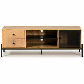 Comodă TV din lemn de pin Marckeric Andy, lățime 144 cm, maro la pret 1033 lei
