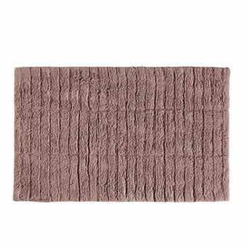 Covor baie din bumbac Zone Tiles, 50 x 80 cm, roz închis la pret 163 lei