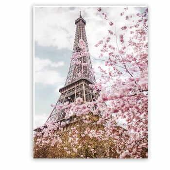 Tablou imprimat pe pânză Styler Romantic Eiffel, 100 x 75 cm la pret 186 lei