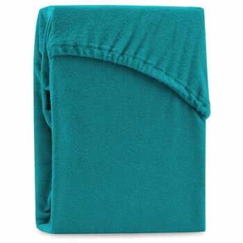 Cearșaf elastic pentru pat dublu AmeliaHome Ruby Turquoise, 200-220 x 200 cm, turcoaz la pret 156 lei